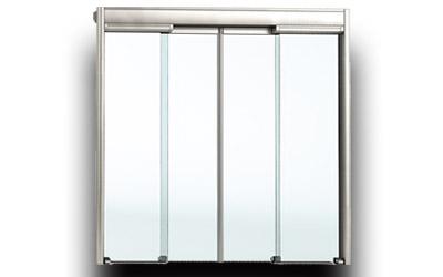 Porte coulissante vitrée